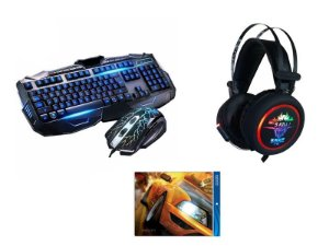Kit Gamer Miika - Com Headset Knup 7.1