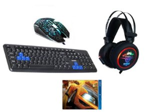 Kit Gamer Lightning - Com Headset Knup 7.1