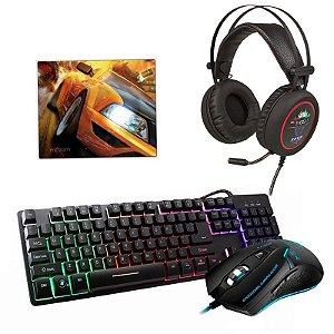Kit Gamer Osiris - Com Headset 7.1