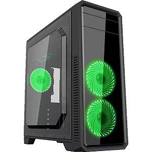 Gabinete Gamemax Eco G561 - Preto - Fan Verde