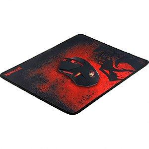 Kit Gamer Redragon - Mouse Centrophorus, LED Vermelho + Mousepad, Control, Médio