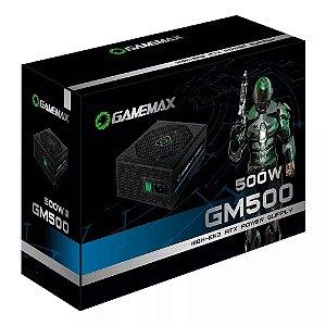Fonte Gamemax Gm500 Preta 80 Plus Bronze 500w