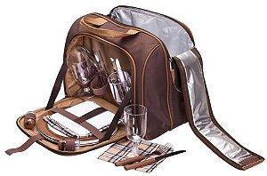 Bolsa térmica com kit picnic 4P Guepardo