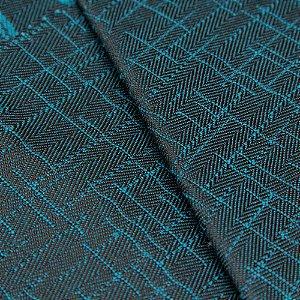 Tecido Jacquard Algodão Impermeabilizado Azul Preto - Pan 01