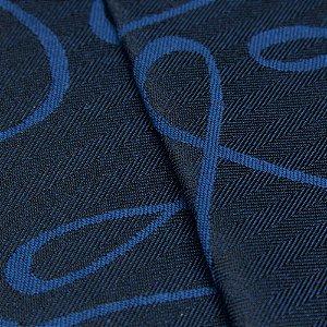 Tecido Jacquard Algodão Impermeabilizado Linhas Azul escuro e Royal - Pan 22