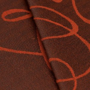 Tecido Jacquard Algodão Impermeabilizado Linhas Laranja Preto - Pan 26