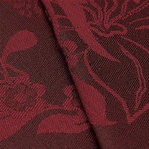 Tecido Jacquard Algodão Impermeabilizado Floral bordo  - Pan 43