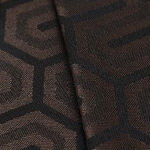 Tecido Jacquard Algodão Impermeabilizado Geometrico Marrom Café e Preto - Pan 51