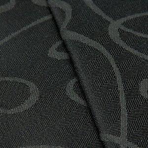 Tecido Jacquard Algodão Impermeabilizado Linhas Preto e Chumbo - Pan 55