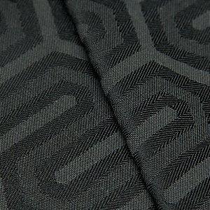 Tecido Jacquard Algodão Impermeabilizado Geometrico Preto e Chumbo - Pan 56