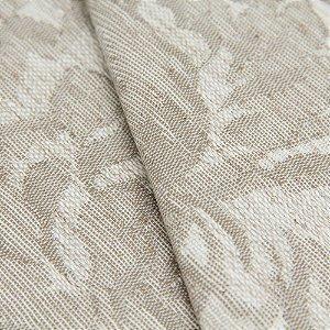 Tecido Jacquard Floral Tons de Cinza claro e Creme - Flórida 14