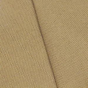 Tecido algodão Jacquard Impermeabilizado Bege Escuro Liso - Aus 16