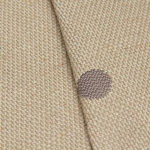 Tecido algodão Jacquard Impermeabilizado com circulos Cinza - Aus 26