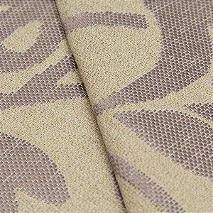 Tecido algodão Jacquard Impermeabilizado Floral Cinza - Aus 28