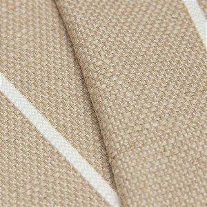 Tecido algodão Jacquard Impermeabilizado Cru Escuro e linhas Brancas - Aus 35