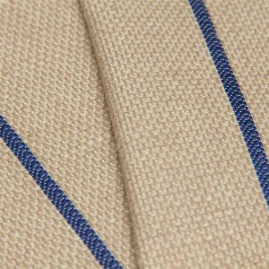 Tecido algodão Jacquard Impermeabilizado Cru Escuro e Linhas Marinho - Aus 38