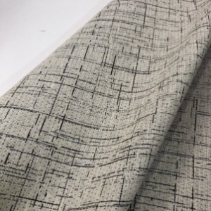 Tecidos Rústicos Impermeável Victoria Para Moveis Linhas Pretas