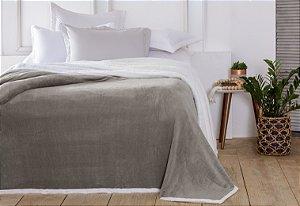 Manta Casal Áustria Bege Corttex Sherpa Design 1,80 x 2,20mt