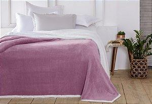 Manta Casal Áustria Rosa Antigo Corttex Sherpa Design 1,80 x 2,20mt