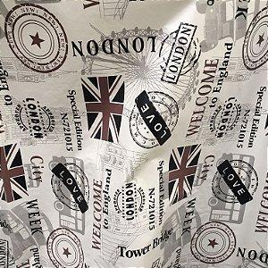 Tecido Corino Estilo Londres Retro Vintage