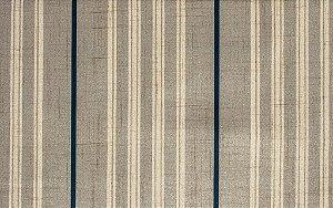Tecido Estampado Linhas Areia, Creme e Azul Marinho - Hava 02