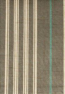 Tecido Estampado Linhas Creme, Azul e Cinza - Hava 08