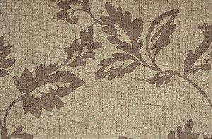 Tecido Estampado Folhas Creme e Bege - Hava 15