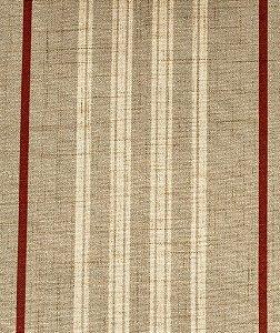 Tecido Estampado Linhas Creme, Areia e Vermelho - Hava 21