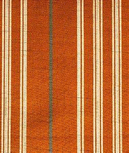 Tecido Estampado Linhas Laranja, Creme e Cinza - Hava 27
