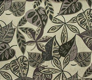 Tecido Gold Folhas Verde e Marrom - Hava 48