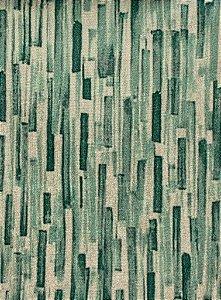 Tecido Gold Rajado Verde e Champanhe - Hava 53