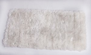 Tapete Shaggy Gold Peludo 50 x 100 cm Branco