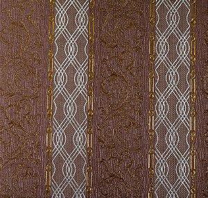 Papel de Parede Moda Em Casa Marrom, Prata e Dourado com Glitter - 7176