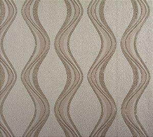 Papel de Parede Moda Em Casa Cinza Claro com Ondas Cinza e Glitter - 7066