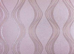 Papel de Parede Moda Em Casa Rosa Suave com Ondas e Glitter - 7065