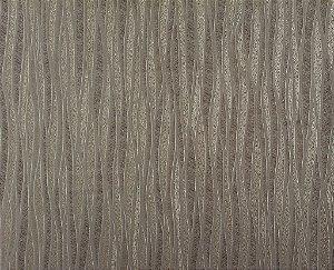 Papel de Parede Moda Em Casa Cappuccino com Linhas Marfim e Glitter - 7019