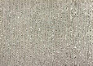 Papel de Parede Moda Em Casa Areia com Linhas Creme e Glitter - 7012