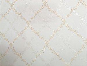 Papel de Parede Moda Em Casa Bege e Dourado e Glitter - 7055
