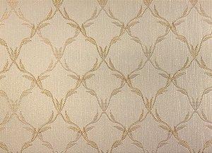 Papel de Parede Moda Em Casa OffWhite com Dourado e Glitter - 7051