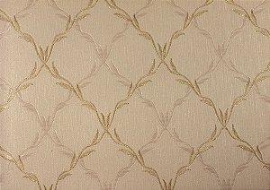 Papel de Parede Moda Em Casa Bege Escuro com Dourado - 7057