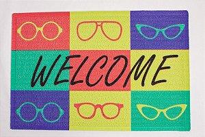 Capacho de Borracha Welcome óculos