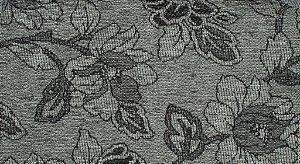 Tecido Chenille Floral Cinza com Chumbo - Pol 30
