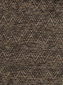 Tecido Chenille Zig-Zag Dourado escuro - Pol 40