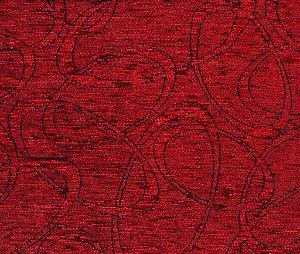 Tecido Chenille Abstrato Vermelho - Pol 45