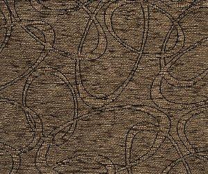 Tecido Chenille Abstrato Marrom - Pol 49