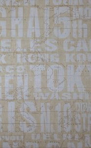 Papel de Parede Grace Estilo Letreiro branco com Bege - GR921002