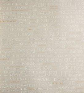 Papel de Parede Grace Escritas Bege, Branco e Dourado - GR921304