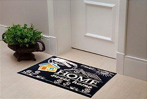 Tapete Capacho Color Art 40x60 - Home Sweet Home Preto