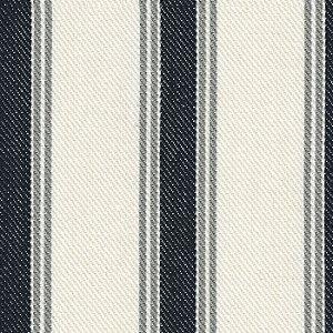 Tecido Listrado Jeans, Cinza e Cru - Val 40