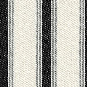 Tecido Listrado Preto, Cinza e Cru - Val - 46